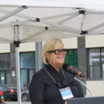 Inauguration de la place Iona-Monahan dans le district St-Sulpice, d'Ahuntsic-Cartierville