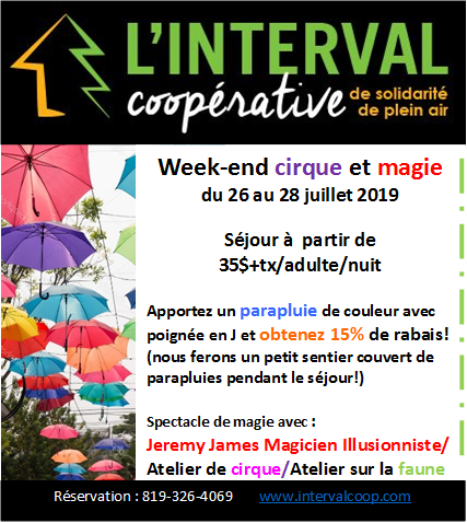 Interval week-end cirque et magie